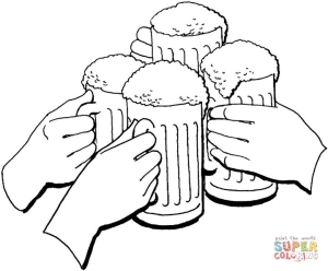 Holiday-of-beer-coloring-page