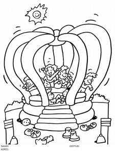 Koningsdag-kleurplaat-springkussen